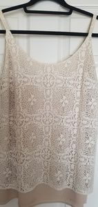 Cabi,  two layer lace top